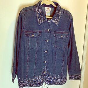 QF new jean jacket 1x